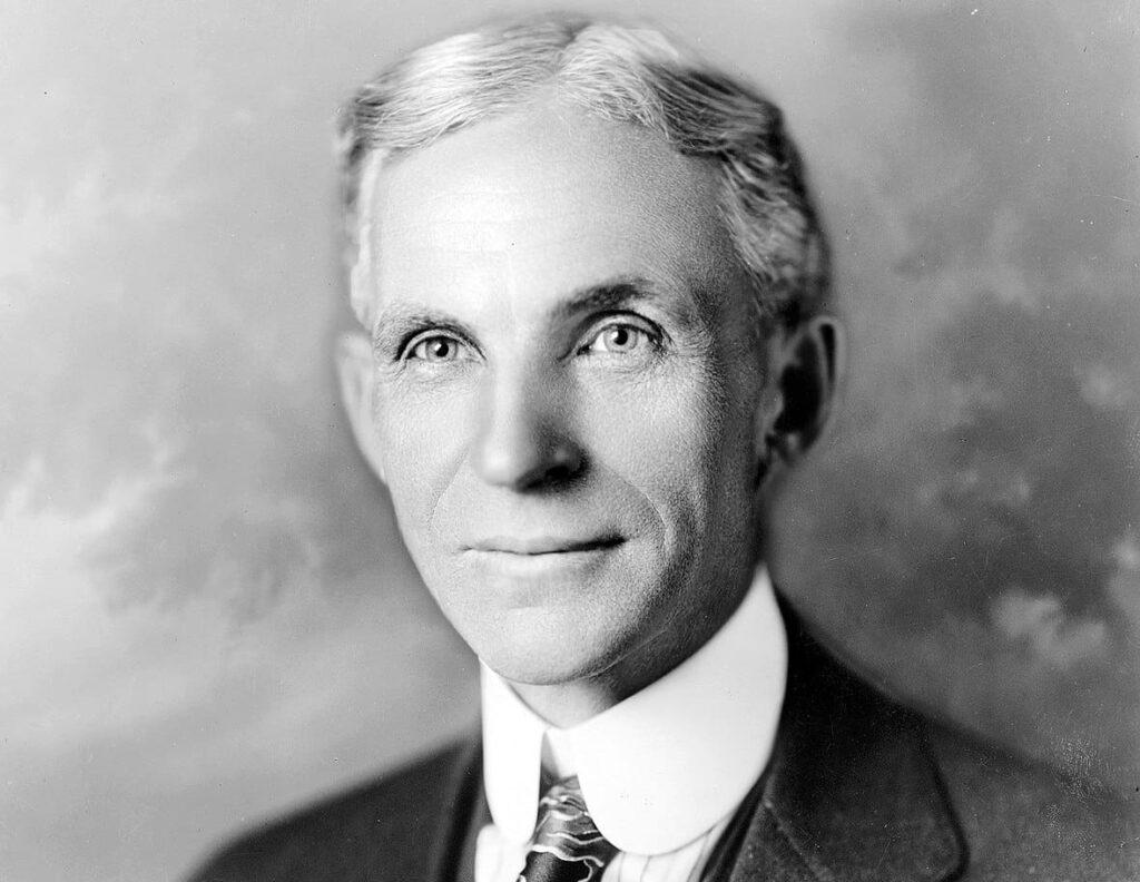 Immagine che raffigura Henri Ford - Colui che mise in atto il salario di efficienza nel 1914