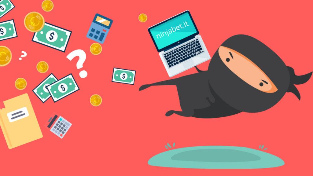 matched betting come funziona. copertina del sito di ninjabet