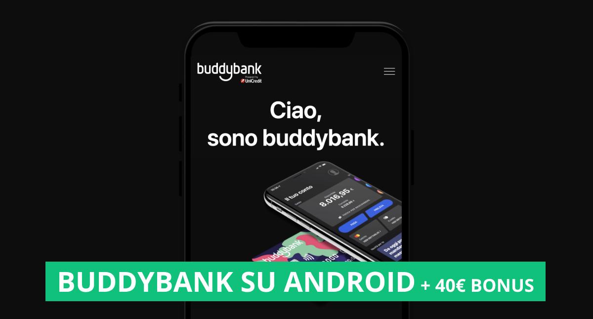 """copertina dell'articolo """"buddybank disponibile su android"""""""