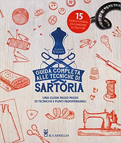 """Copertina del libro """"Guida completa alle tecniche di sartoria."""""""