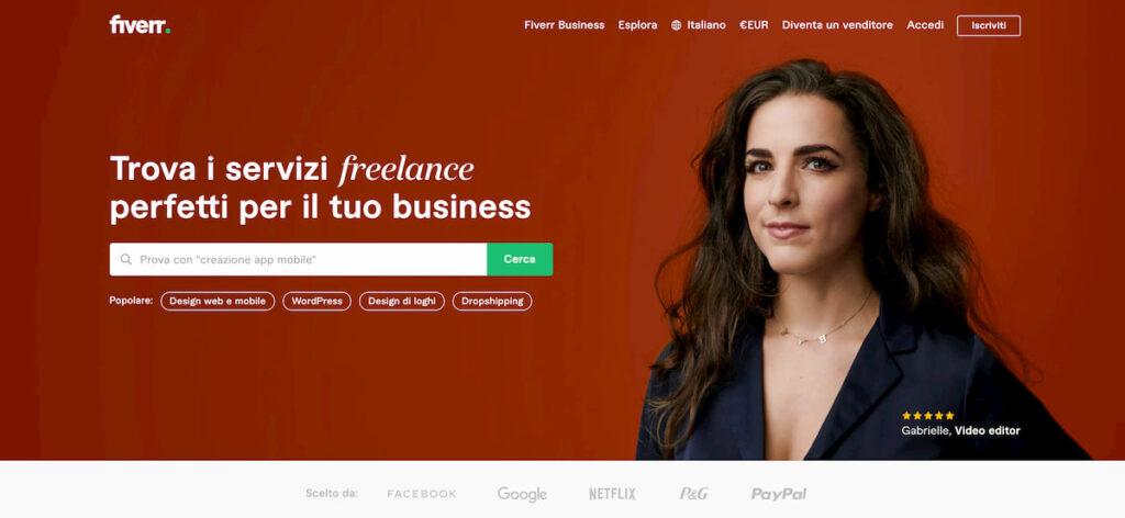 siti per trovare un freelance - fiverr
