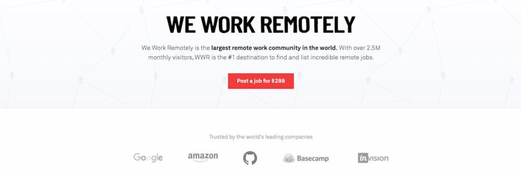 siti per trovare un freelance - we work remotely