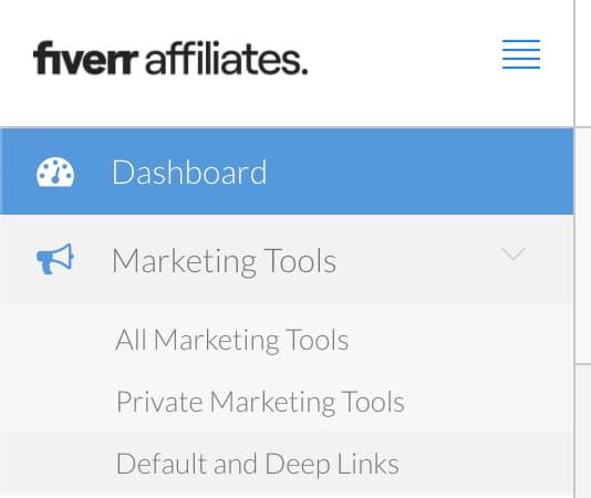 default e deep links sulla affiliazione fiverr