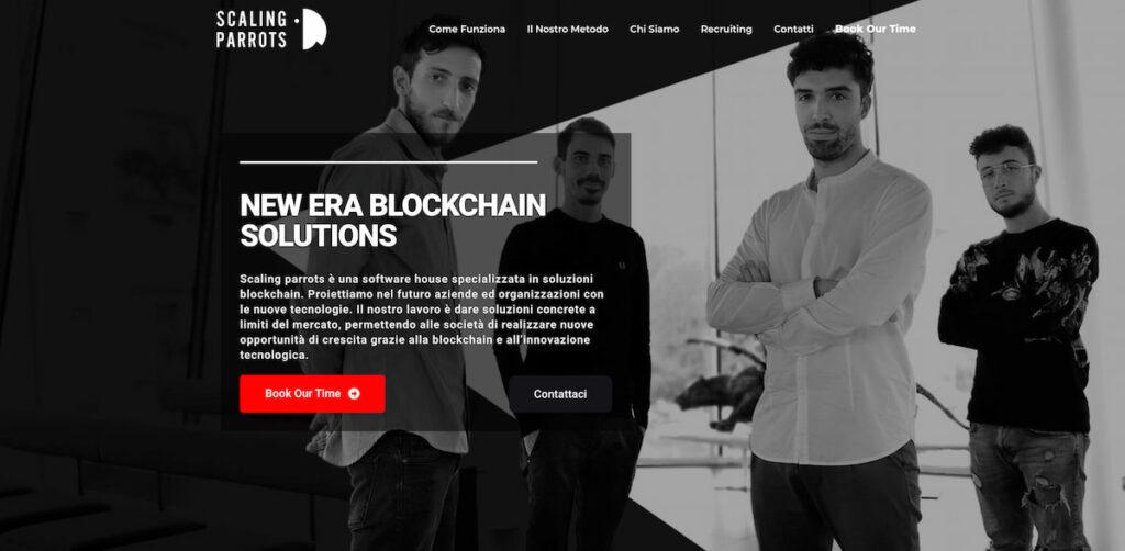 Come innovare un business con la Blockchain - Homepage di Scaling Parrots